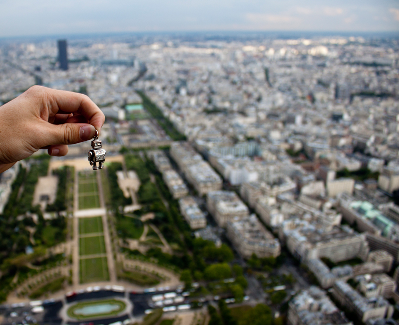 Robot Key Chain in Paris